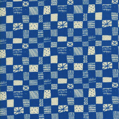 Printshop Grid in Blue from Printshop by Alexia Abegg for Cotton+Steel