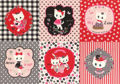 Kitten Doll Baby Panel in Black & Red from Kitten Doll Baby by Lecien House Designers  for Lecien