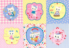 Kitten Doll Baby Panel in Pink & Powder from Kitten Doll Baby by Lecien House Designers  for Lecien