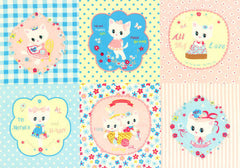 Kitten Doll Baby Panel in Aqua & Peach from Kitten Doll Baby by Lecien House Designers  for Lecien