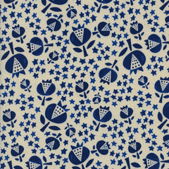 Flower Shop Thistle in Indigo from Flower Shop by Alexia Abegg for Cotton+Steel