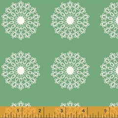 Modern Country Doilies in Green from Modern Country by Mary Elizabeth Kinch for Windham