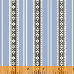 Modern Country Stripes in Blue from Modern Country by Mary Elizabeth Kinch for Windham
