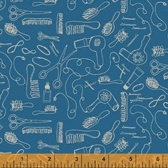 Good Hair Day Stylin Up in Blue from Good Hair Day by Kim Andersson for Windham Fabrics
