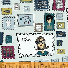 Paper Obsessed Stamps in Light Blue from Paper Obsessed by Heather Givans for Windham