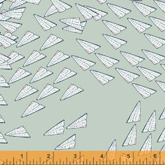 Paper Obsessed Airplanes in Mint from Paper Obsessed by Heather Givans for Windham
