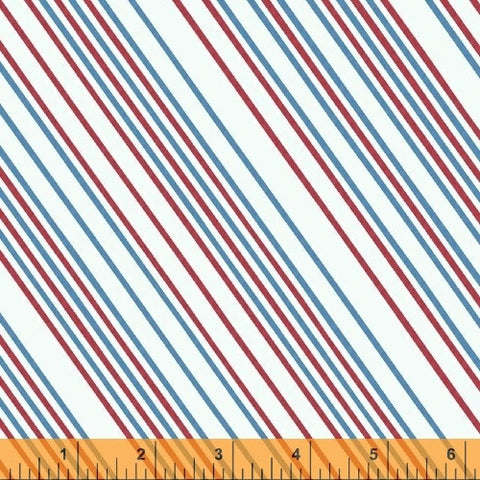 Paper Obsessed Postal Stripe in Red