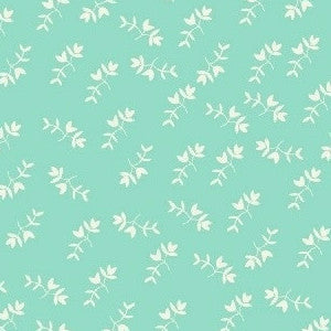 Maribel Mono Floral in Aqua