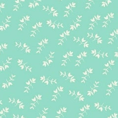 Maribel Mono Floral in Aqua from Maribel by Annabel Wrigley for Windham