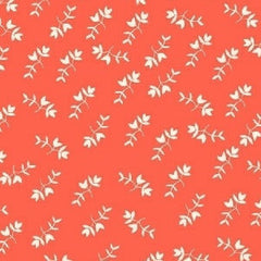 Maribel Mono Floral in Coral from Maribel by Annabel Wrigley for Windham