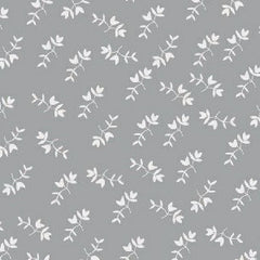 Maribel Mono Floral in Gray from Maribel by Annabel Wrigley for Windham