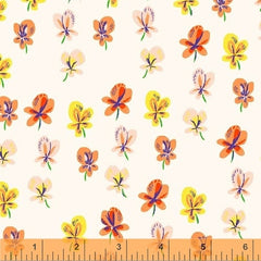 Sleeping Porch Colorful Flowers in White from Sleeping Porch by Heather Ross for Windham