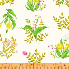 Sleeping Porch Wild Flowers in White from Sleeping Porch by Heather Ross for Windham