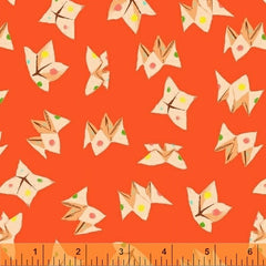 Sleeping Porch Origami  in Red from Sleeping Porch by Heather Ross for Windham