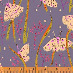 Sleeping Porch Butterflies in Periwinkle from Sleeping Porch by Heather Ross for Windham