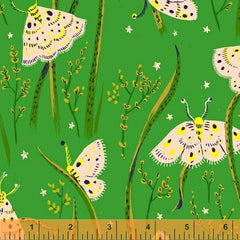 Sleeping Porch Butterflies  in Green from Sleeping Porch by Heather Ross for Windham