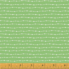 Curious Dream Stripe in Green from Curious Dream by Alexia Abegg for Windham
