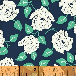 Sweet Florals Dotted Rose in Navy
