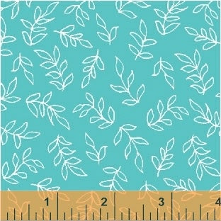 Sweet Florals Scribble Leaves in Turquoise