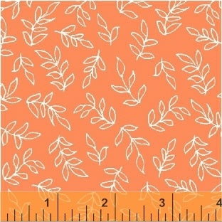 Sweet Florals Scribble Leaves in Coral