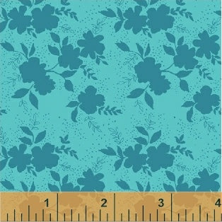 Sweet Florals Shadow Flower in Turquoise