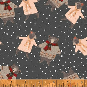 50100-1 A Walk in the Woods Bears in Charcoal by Whistler Studios for Windham Fabrics at Pink Castle Fabrics
