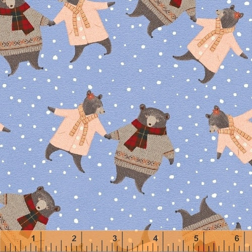 50100-2 A Walk in the Woods Bears in Blue by Whistler Studios for Windham Fabrics at Pink Castle Fabrics
