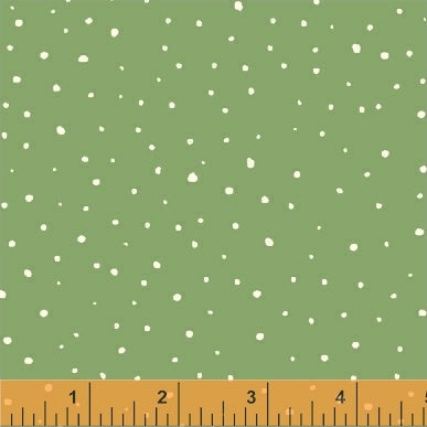 50104-6 A Walk in the Woods Snow in Green by Whistler Studios for Windham Fabrics at Pink Castle Fabrics