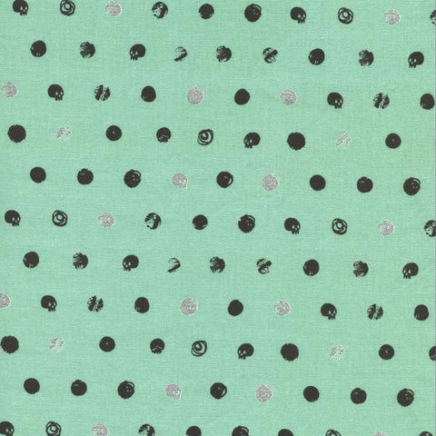 Skull Dot in Metallic Mint