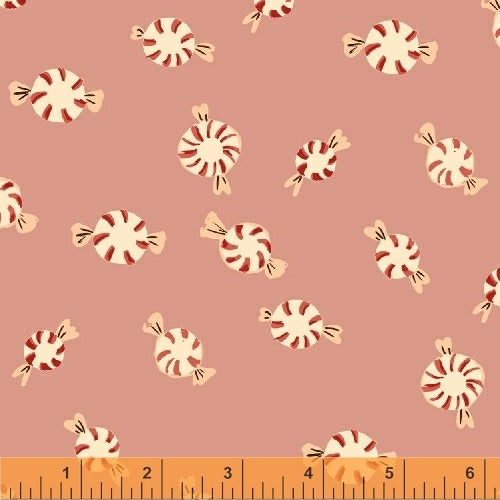 Sugarplum Peppermints Flannel in Pink