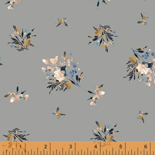 50346-2 Botany Gather in Grey by Kelly Ventura for Windham Fabrics at Pink Castle Fabrics