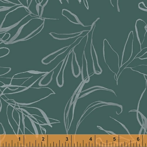 50347-4 Botany Foliage in Teal by Kelly Ventura for Windham Fabrics at Pink Castle Fabrics