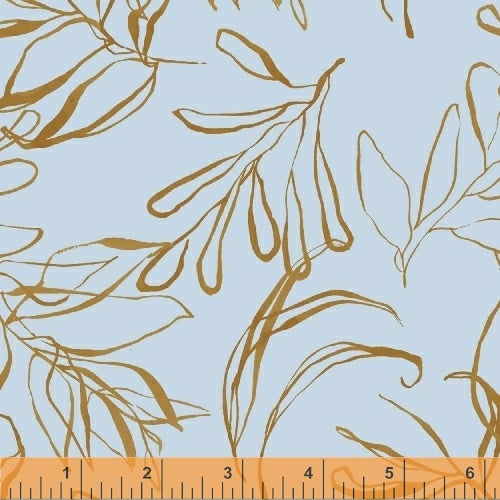 50347-5 Botany Foliage in Light Blue by Kelly Ventura for Windham Fabrics at Pink Castle Fabrics