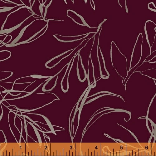 50347-8 Botany Foliage in Plum by Kelly Ventura for Windham Fabrics at Pink Castle Fabrics