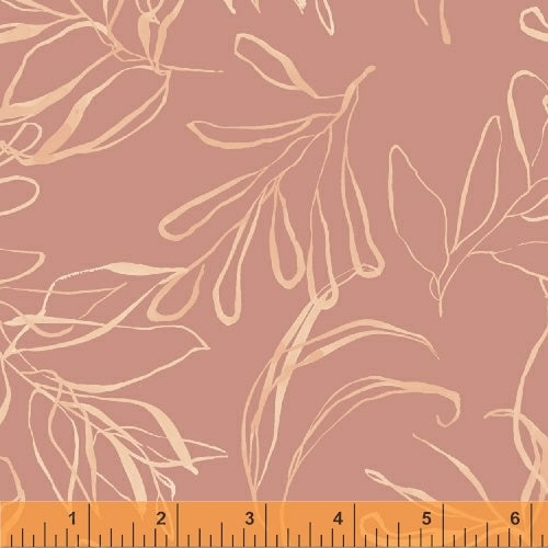 50347-9 Botany Foliage in Dusty Rose by Kelly Ventura for Windham Fabrics at Pink Castle Fabrics