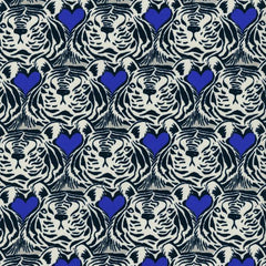 Bluebird Tiger Heart in Blue from Bluebird by Sarah Watts for Cotton+Steel