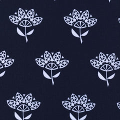 Bluebird Cornflower in Navy from Bluebird by Rashida Coleman-Hale for Cotton+Steel