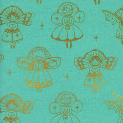 Garland Angels in Aqua Metallic from Garland by Sarah Watts for Cotton Steel