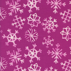 Garland Snowflakes in Grape from Garland by Rashida Coleman-Hale for Cotton Steel