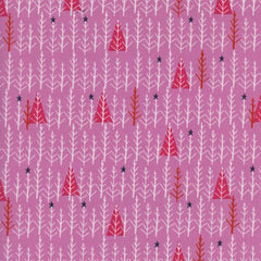 Garland Tree Day in Pink from Garland by Alexia Abegg for Cotton Steel