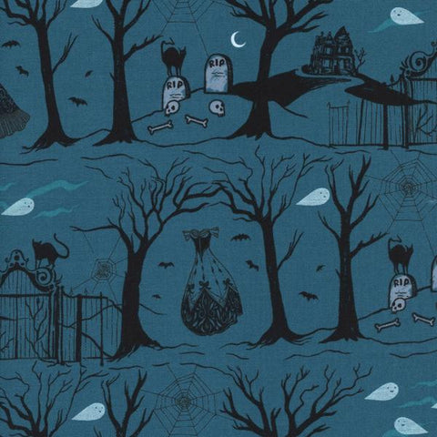 Boo! Hallow Lane in Blue Pearlescent