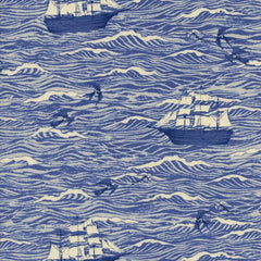 S. S. Bluebird Out To Sea in Blue from S. S. Bluebird by Cotton+Steel House Designers  for Cotton+Steel
