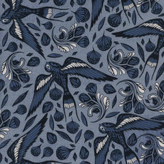 S. S. Bluebird Sailor Ink in Blue from S. S. Bluebird by Cotton+Steel House Designers  for Cotton+Steel