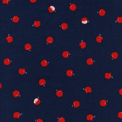 S. S. Bluebird Apple in Navy from S. S. Bluebird by Cotton+Steel House Designers  for Cotton+Steel