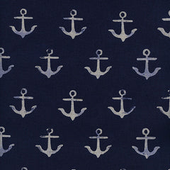 S. S. Bluebird Anchor Linen in Navy from S. S. Bluebird by Cotton+Steel House Designers  for Cotton+Steel