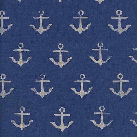 S. S. Bluebird Anchor Linen in Blue
