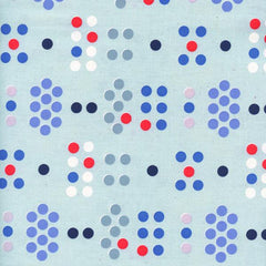 S. S. Bluebird Morse Code in Blue from S. S. Bluebird by Cotton+Steel House Designers  for Cotton+Steel