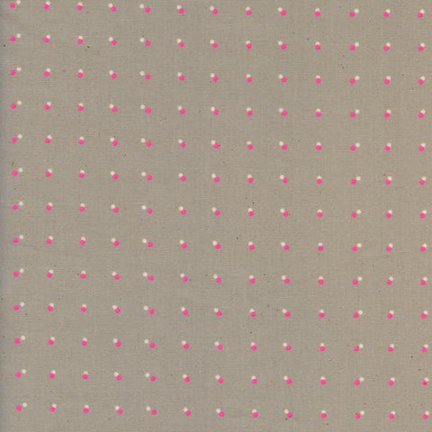 Black & White 2017 Double Dots in Neon Pink
