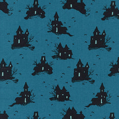 Lil' Monsters Trick or Treat in Teal from *Lil' Monsters by Sarah Watts for Cotton+Steel