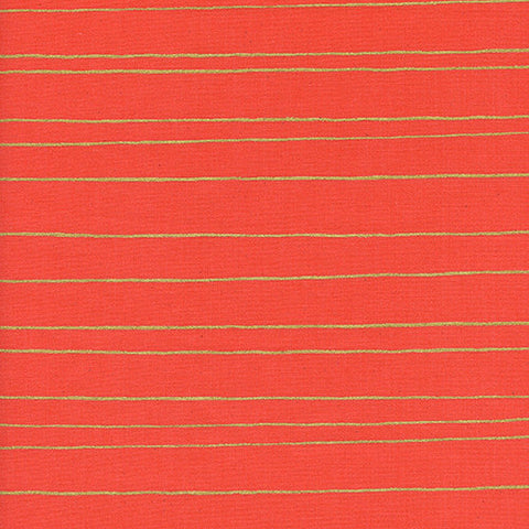 Noel Gold Stripe in Red Metallic